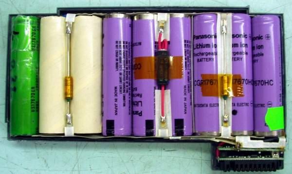 Схема аккумулятора состоит из